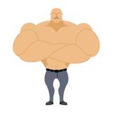 Sterke Mens Bodybuilder, atleet op een witte achtergrond Mens die met Royalty-vrije Stock Foto