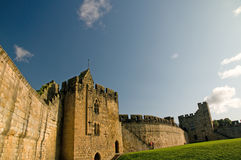 Sterke muren van het kasteel Royalty-vrije Stock Fotografie