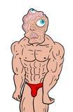 Sterke mutant vector illustratie