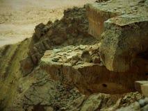Sterke rotsen in Mitzpeh Ramon Stock Foto's