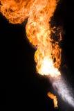 Sterke vlam, echte foto Royalty-vrije Stock Foto's