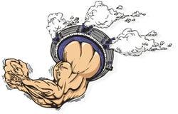 Sterke wapenmotor. royalty-vrije illustratie
