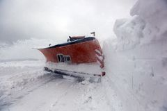 Sterke winden en sneeuw Royalty-vrije Stock Afbeeldingen