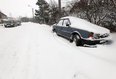 Sterke winden en sneeuw Royalty-vrije Stock Afbeelding