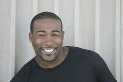 Sterke zwarte kerel headshot Stock Foto