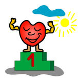 Sterkte van het hart Stock Afbeelding