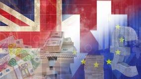 Sterline e video dell'euro stock footage