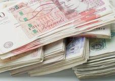 Sterling английского фунта Стоковое Изображение
