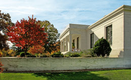 Sterling and Clark Art Museum. Located in a small New England college town of Williamstown, Ma the art museum has grown in size since the original building shown Stock Images
