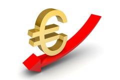 Sterling Down Arrow euro Imágenes de archivo libres de regalías