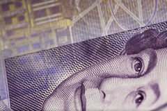 Sterling Money Close-up. British Twenty Pound notes in close-up Stock Images