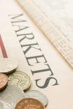 Sterling no papel Fotos de Stock Royalty Free