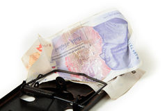 Sterling pound financial trap Royalty Free Stock Image