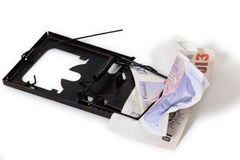 Sterling pound financial trap Royalty Free Stock Photography