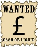 sterling pound west style poster Stock Photo
