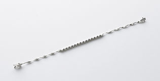 Sterling Silver Bracelet Stock Photography
