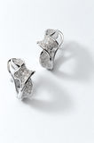 Sterling silver earring Stock Photo