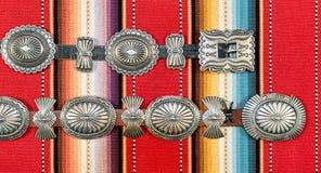 Native American Concho Belt. royalty free stock photo
