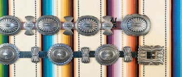 Native American Concho Belt. royalty free stock images