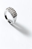Sterling Silver Ring. On close up Royalty Free Stock Photo