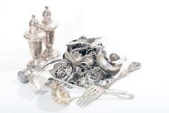 Sterling Silver Scrap Royalty Free Stock Photos