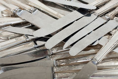 Sterling Silver Scrap knives Royalty Free Stock Images