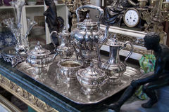 Sterling Silver Tea set Antique Royalty Free Stock Images