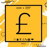 Sterling symbol icon. Element for your design Royalty Free Stock Photos