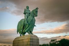 Sterling, unido Reino-Sept 18, 2011: Robert Bruce Statue imagem de stock royalty free