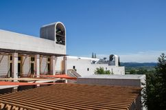 Sterling Vineyards byggnad, Napa Valley, Kalifornien arkivbilder