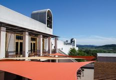 Sterling Vineyards byggnad, Napa Valley, Kalifornien royaltyfria bilder
