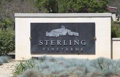 Sterling Vineyards i Napa Valley Arkivfoton