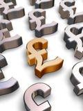 Sterlingsymbole des pounds 3D Stockfotos