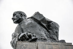 Sterlitamak. The Monument To Lenin. Against the cloudy rain of heaven Stock Photos