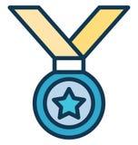 Stermedaille, medaillevector die gemakkelijk kan worden gewijzigd of Stermedaille, medaillevector uitgeven die gemakkelijk kan wo stock illustratie