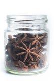 Stern-Anis in einem Glas Lizenzfreies Stockfoto