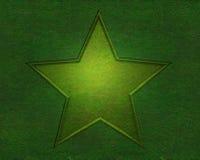 Stern auf Beschaffenheit des grünen Grases Stockfoto