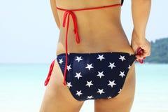 Stern auf Bikini Stockfotografie