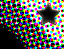 Stern auf bunten Halbtonpunkten Stockfotos