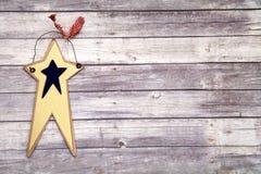 Stern auf Holzfußboden stockfoto