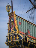 Stern of Batavia historic tall ship Royalty Free Stock Photo