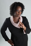Stern Black Woman Stock Photo