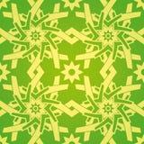 Stern-Blumen-geometrisches nahtloses Muster Lizenzfreies Stockbild