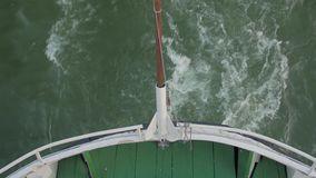 Stern Of Boat Waves