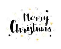Stern-Briefgestaltung der frohen Weihnachten lizenzfreie stockfotos