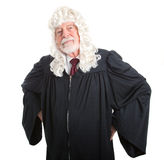 Stern British Judge Royalty Free Stock Photography