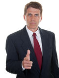 Stern Businessman Royalty Free Stock Photography