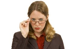 Stern Businesswoman Royalty Free Stock Photo