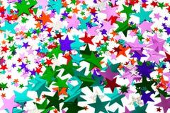Stern Confetti Stockfotos
