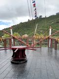 Stern czarna łódź z czerwienią parkowy Jaime duque obrazy royalty free